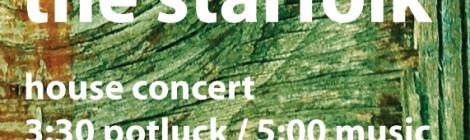 The Starfolk House Concert in Maple Plain, MN Sun 12/16